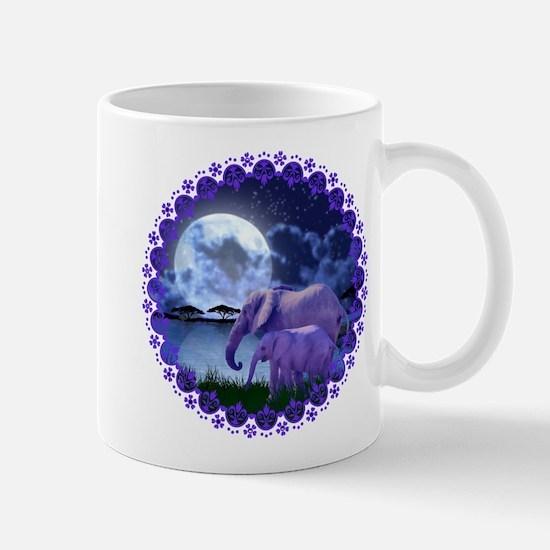 Contemplative Elephants Mug