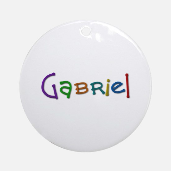 Gabriel Play Clay Round Ornament
