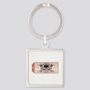 Red Class of 2017 Tag Square Keychain