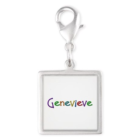 Genevieve Play Clay Silver Square Charm