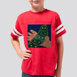 peas messenger Youth Football Shirt