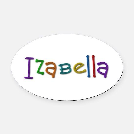 Izabella Play Clay Oval Car Magnet