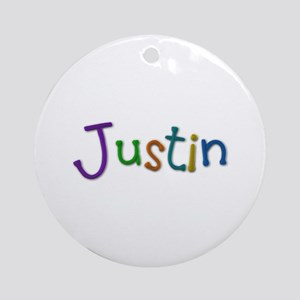 Justin Play Clay Round Ornament