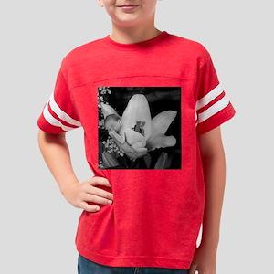 Flower Baby b & w 12 x 12 Youth Football Shirt