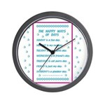 Days of the Week Poem Wall Clock