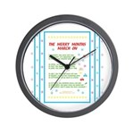 Months of the Year Poem Wall Clock