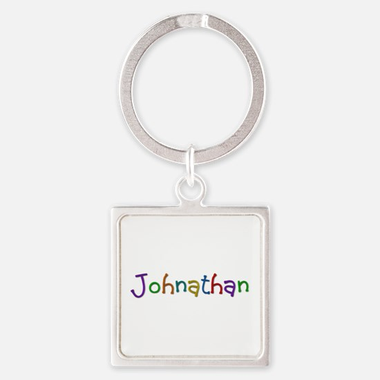 Johnathan Play Clay Square Keychain