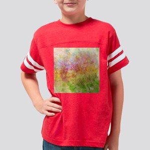 Soft Floral Abstract Design Youth Football Shirt