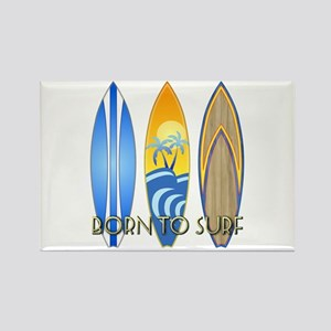 Born To Surf Rectangle Magnet