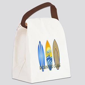 Born To Surf Canvas Lunch Bag