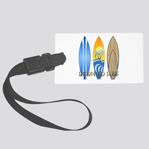 Born To Surf Luggage Tag