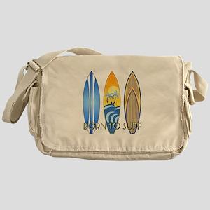 Born To Surf Messenger Bag