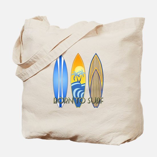 Born To Surf Tote Bag