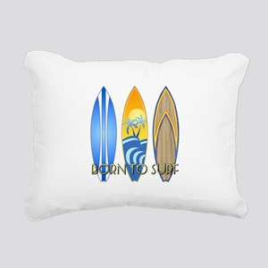 Born To Surf Rectangular Canvas Pillow
