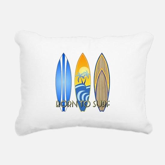 Born To Surf Rectangular Canvas Pillow