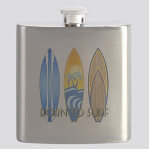 Born To Surf Flask