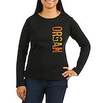 Organ Stamp Women's Long Sleeve Dark T-Shirt