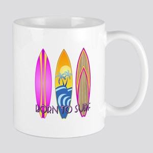 Born To Surf Pink Mug