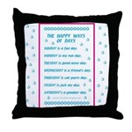 Days of the Week Poem Throw Pillow
