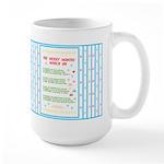 Months of the Year Poem Large Mug