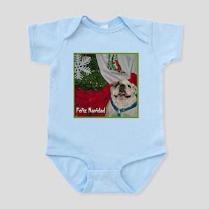 Bulldog Wishing You Feliz Nav Infant Bodysuit