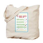 Months of the Year Poem Tote Bag