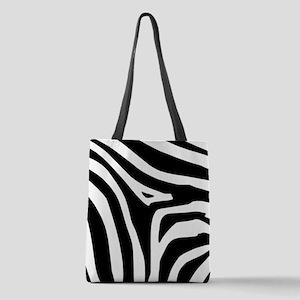 Zebra Polyester Tote Bag