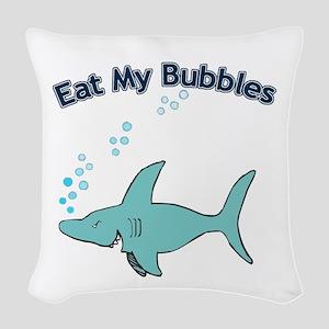 Eat My Bubbles Woven Throw Pillow