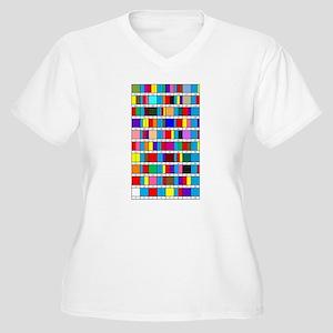 Octal Prime Factorization Chart Plus Size T-Shirt
