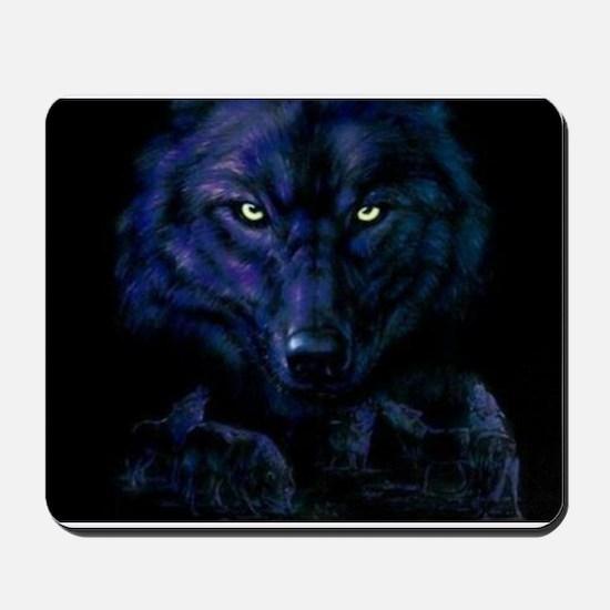 Midnight Wolf Mousepad