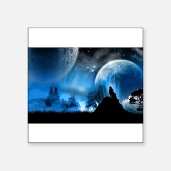 Wolf at Midnight Sticker