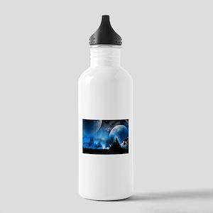 Wolf at Midnight Water Bottle