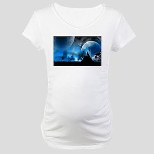 Wolf at Midnight Maternity T-Shirt