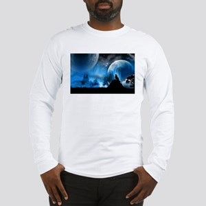 Wolf at Midnight Long Sleeve T-Shirt