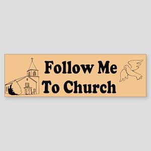 Follow me to church Sticker (Bumper)