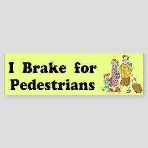 I Brake For Pedestrians Custom Sticker (Bumper)