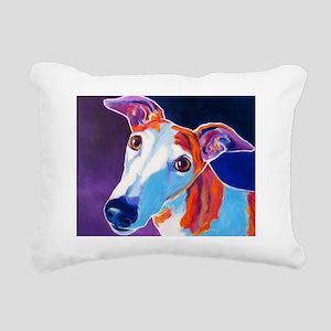 Greyhound #3 Rectangular Canvas Pillow