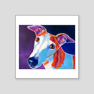 "Greyhound #3 Square Sticker 3"" x 3"""