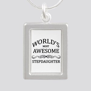 World's Most Awesome Stepdaughter Silver Portrait