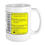 """Caffeine"" Prescription Large Mug Mugs"