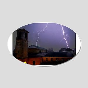 Paris Lightning 20x12 Oval Wall Decal