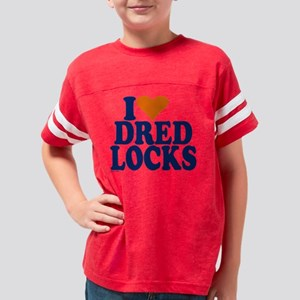 dred locks blue trans Youth Football Shirt