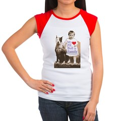 My Pit Bull is Family Women's Cap Sleeve T-Shirt