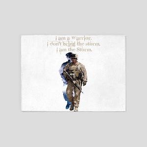 Americans United: Warrior Storm 5'x7'Area Rug