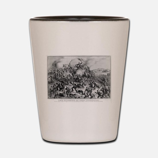 The storming of Fort Donelson - 1862 Shot Glass
