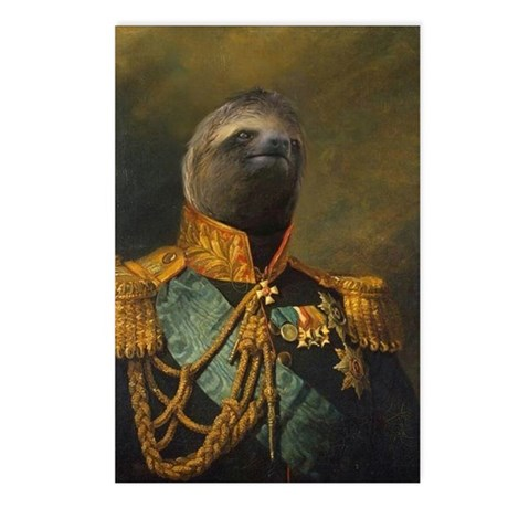 General Sloth Postcards (Package of 8)