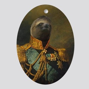 General Sloth Oval Ornament