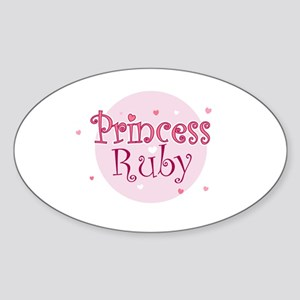 Ruby Oval Sticker