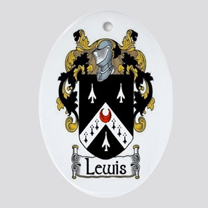 Lewis Coat of Arms Oval Ornament