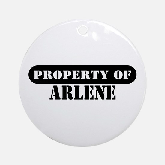Property of Arlene Ornament (Round)